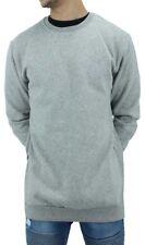 Men's Designer Long Cotton Sweatshirt, Rock Star, New Hip Hop Skater Era, G Grey