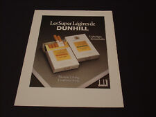 Dunhill Super Années 1985's - 1990's  Advertising Vintage AD Pub Paper 1980-1990