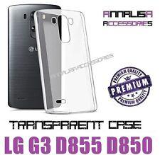 COVER TRASPARENTE x LG G3 D855 D850 CUSTODIA MORBIDA SILICONE TPU GEL SLIM CASE