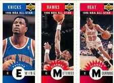1996-97 Collector's Choice Mini Cards Patrick Ewing, Dikembe Mutombo, Alonzo