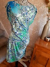 Wallis blue paisley print dress size UK14