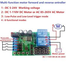 DC/AC Motor Reversible controller Module Timing Delay Cycle Limit Relay Board