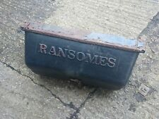 Ransomes Cylinder mower Grass box
