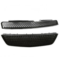 06-13 CHEVY IMPALA/14-15 LIMITED FRONT UPPER+BUMPER MESH GRILLE BLACK BADGELESS