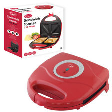 Quest 2 SLICE SANDWICH TOASTER NON STICK PLATES TOASTER 750 WATTS RED