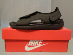 Youth Nike Kids Sunray Adjust 5  Black Hook and Loop Sandals NIB! New! Sizes!