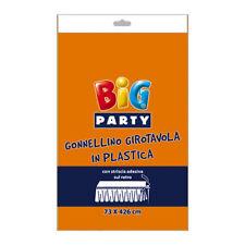 GONNELLINO GIROTAVOLA IN PVC ARANCIONE MONOCOLORE CM.73X426 COMPLEANNO FESTE E P