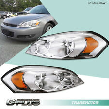 Fit For Chevy 06 13 Impala 06 07 Monte Carlo Chrome Amber Corner Headlights Pair Fits 2006 Impala