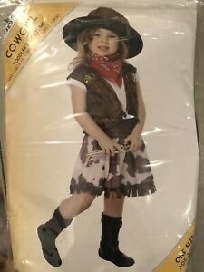 Cowgirl Toddler Fancy Dress Costume Halloween Age 3