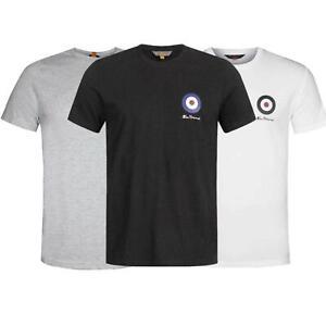Ben Sheman Mens T Shirt Classic Fit Mod Emblem Printed Crew Neck Tee Cotton Top