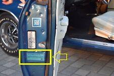 68-76 gm Door Jamb tag w/ Clear Coat Cover Original Repro ID Number 2 Decals