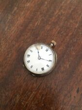 Pocket Watch London 1909 31Mm Antique Edwardian Solid Silver Keyless Wind