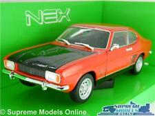 FORD CAPRI MK1 MODEL CAR 1969 1:24 SCALE RED./BLACK WELLY OPENING PARTS LARGE K8
