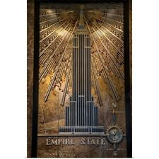 Lobby of the Empire State Building Poster Art Print, New York City Home Decor