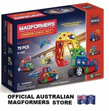 Genuine MAGFORMERS Dynamic Wheel Set - 79 Pcs 3d Magnetic Building Construction