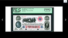 SALE PCGS SUPERB 67 GEM NEW  PPQ  35th Annual International Paper Money 2011  $3