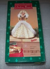 HAPPY HOLIDAY BARBIE STOCKING HANGER 1995, HOLD STOCKING STUFFED FULL OF GOODIES