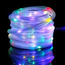 New 100 LED Solar Rope Light Garden Décor Multi Colour Outdoor Home Accessories