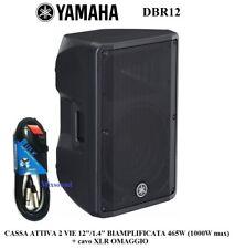 """Altoparlante Yamaha Box Acust. Dbr12 Attivo 12"""" 2v 1000w*1"""