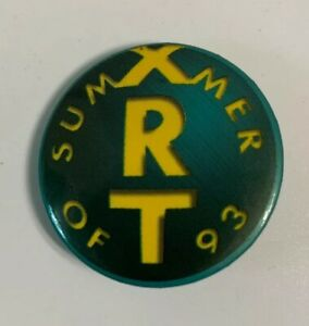 WXRT 93 FM Summer Of 93 Pin Back Button Chicago Radio Station XRT 1.5""