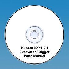 Kubota KX 41-2H Excavator / Digger  - Parts Manual.