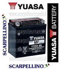 BATTERIA YUASA YTX14-BS CON ACIDO-APRILIA BENELLI BMW BUEL CAGIVA-PIAGGIO 638733