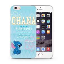 Lilo & Stitch Case/Cover Apple iPhone 5 5s SE + Screen Protector Gel Quote Ohana