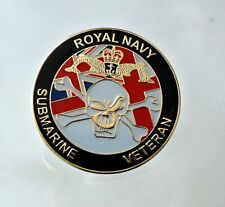 Royal Navy Submarine Veteran enamel pin lapel badge UK Union Jack NEW