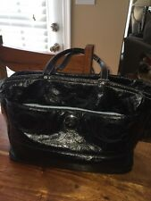 Coach Stitched Black Patent Leather Baby Diaper Tote Shoulder Bag F17940 (LO)