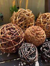 Bundle Of Wicker Balls. Decorative