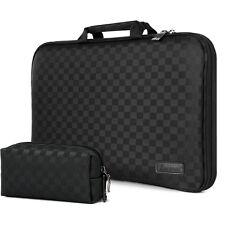 "HP Spectre X360 13t 13"" Laptop Case Sleeve Memory foam Bag Checkered Black i"
