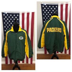 Green Bay Packers G-III windbreaker jacket men's XL Green yellow football 1e600
