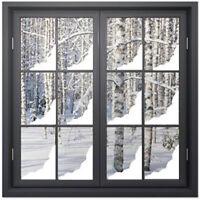 Christmas Snow Corner Window Stickers / CHRISTMAS WINDOW DECORATIONS /  N143