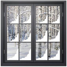 Christmas Snow Corner Window Stickers / CHRISTMAS WINDOW DECORATIONS /  N143