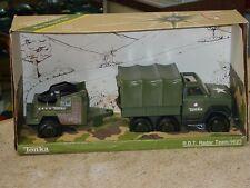 Vintage Tonka Play people Set, #9623 R.D.T. Radar Team, Toy Vehicle In Box