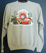 New Disney Parks Cars LIGHTNING MCQUEEN MATER Christmas Sweatshirt Adult Large