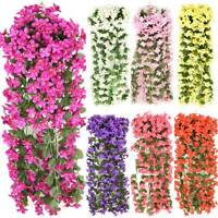 Artificial Fake Violet Hanging Flower Vine Leaf Garland Plant Wedding Home Decos