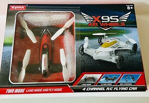 Syma X9S Flying Quadcopter Car Remote Control Car And Drone With Battery. NEW