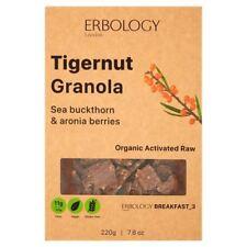 Erbology Organic Tigernut Granola with Sea Buckthorn 220g (Pack of 4)