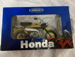 Motorcycle die-cast welly Honda Monkey Yellow Box 18: 1