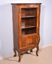 *Antique French Display Cabinet/Bookcase in Rosewood Veneer Marquetry w/Bronze