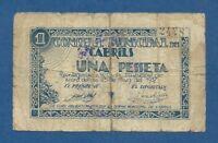CONSELL MUNICIPAL DE CABRILS -- 1 PESETA ( 1937 ) -- RC -- 1ª EMISION .