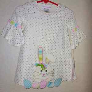 Bonnie baby Easter bunny dress bell sleeve Nwt 18m embroidery dress