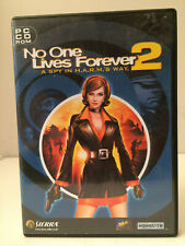 NO ONE LIVES FOREVER 2 Pc Cd Rom Original NOLF 2 A Spy In HARMS Way           D1