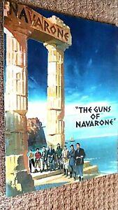 THE GUNS OF NAVARONE (1961) CINEMA FILM MOVIE SOUVENIR BROCHURE PROGRAMME