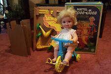 Vintage 1967 Mattel TIPPEE TOES Doll BOX almost complete! Box, doll, bike, horse