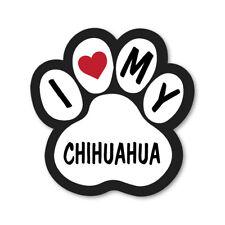 I LOVE MY CHIHUAHUA CAR VAN LORRY WALL VINYL SELF ADHESIVE STICKERS