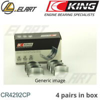 King Big End Con Rod Bearings CR4292CP STD For Mercedes OM-102-111 1984->