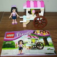 """Lego Friends Set #30106 """"Emma's Ice Cream Stand"""" - 100% Complete with Manual"""