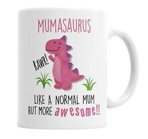 Mumasaurus Mug Mum Dinosaur Cup for Fathers Day Birthday Christmas Funny Mug